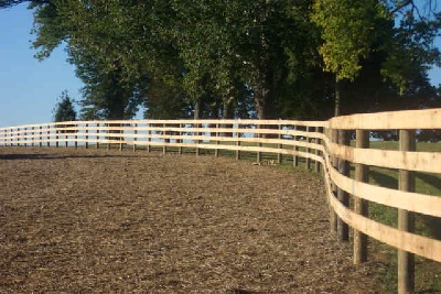 Four board horse fence
